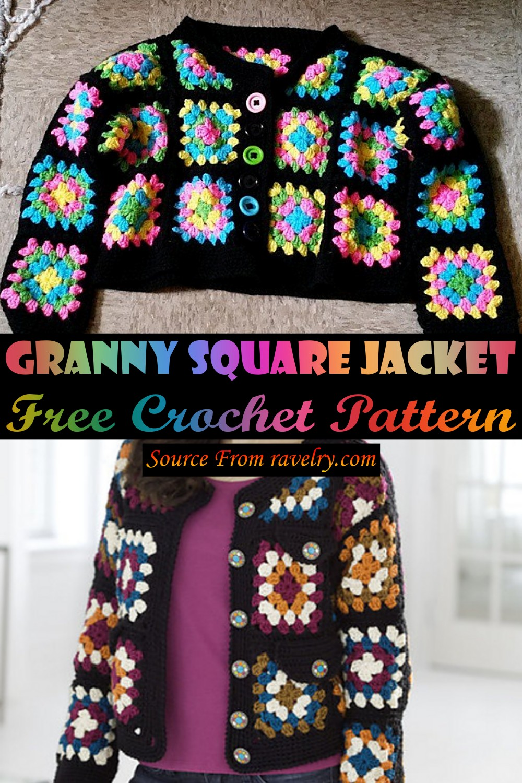 Free Crochet Granny Square Jacket Pattern