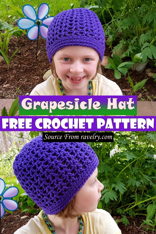 Free Crochet Grapesicle Hat Pattern