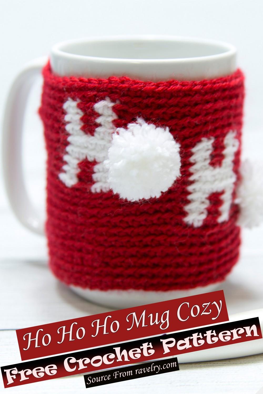 Free Crochet Ho Ho Ho Mug Cozy Pattern