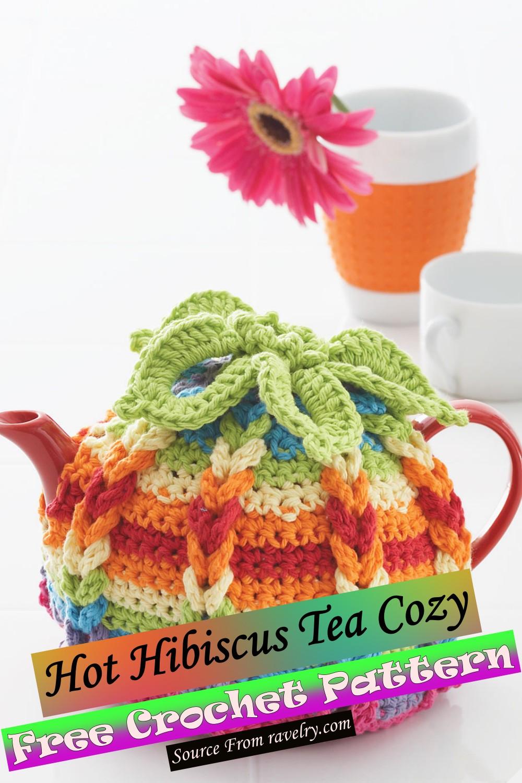Free Crochet Hot Hibiscus Tea Cozy Pattern