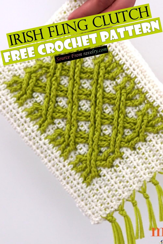 Free Crochet Irish Fling Clutch Pattern