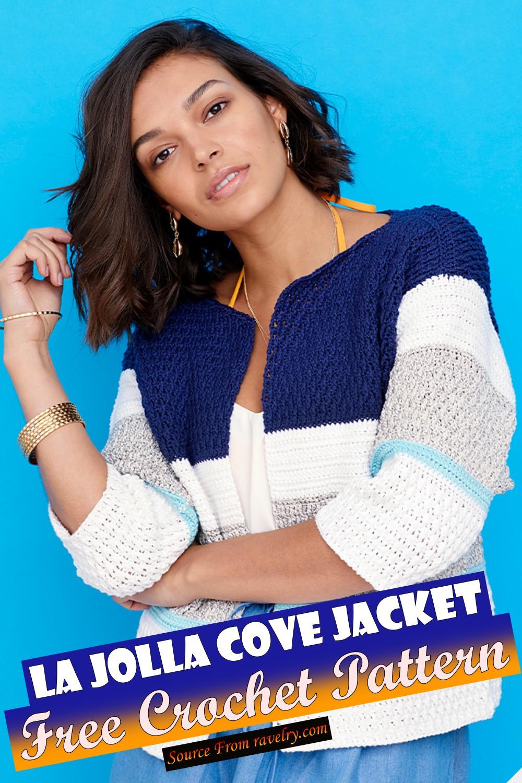 Free Crochet La Jolla Cove Jacket Pattern