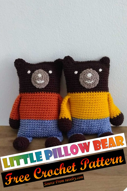 Free Crochet Little Pillow Bear Pattern