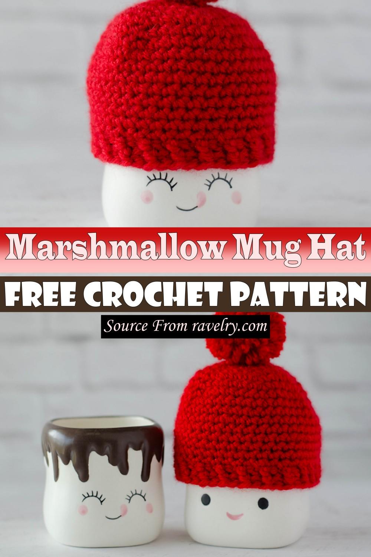 Free Crochet Marshmallow Mug Hat Pattern