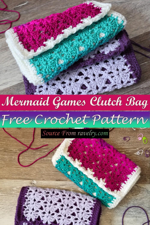 Free Crochet Mermaid Games Clutch Bag Pattern