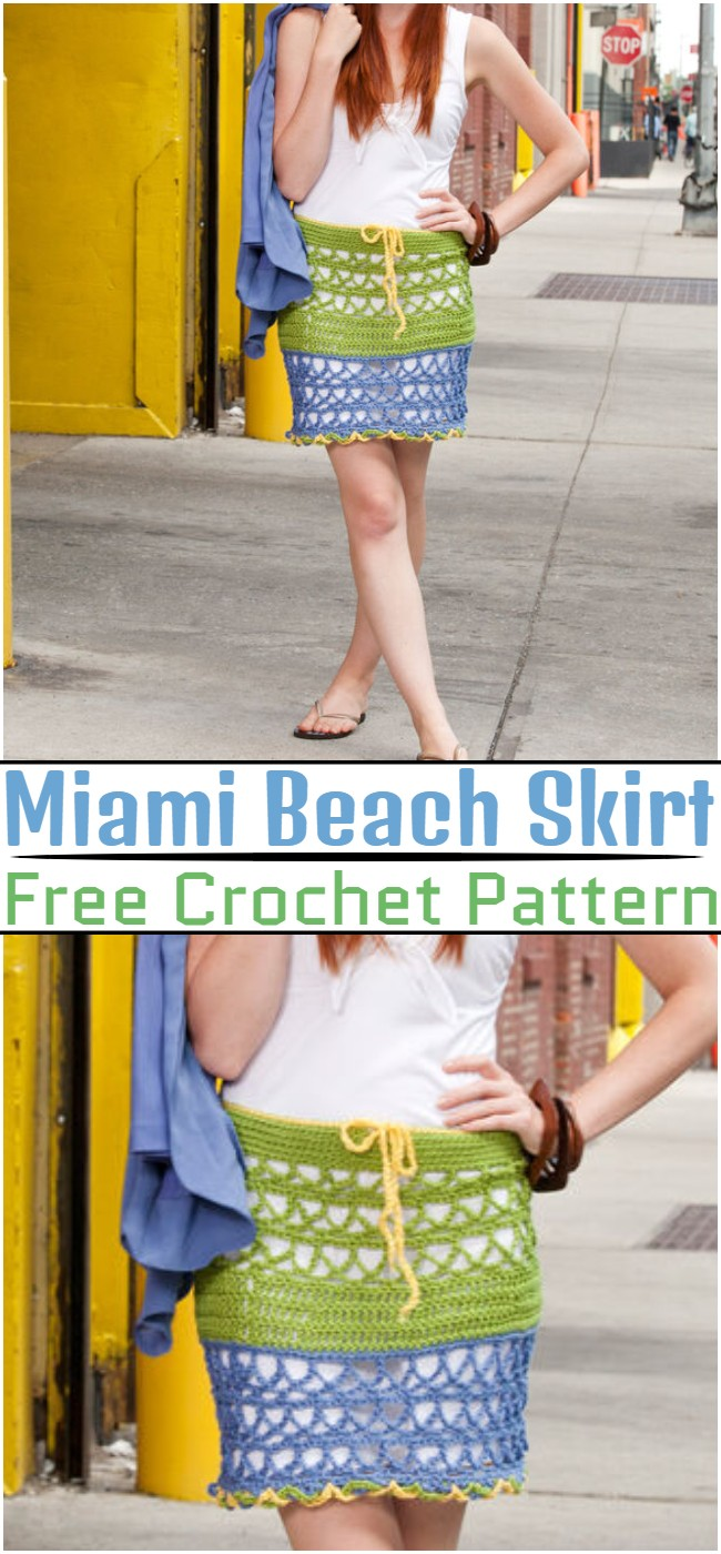 Free Crochet Miami Beach Skirt Pattern