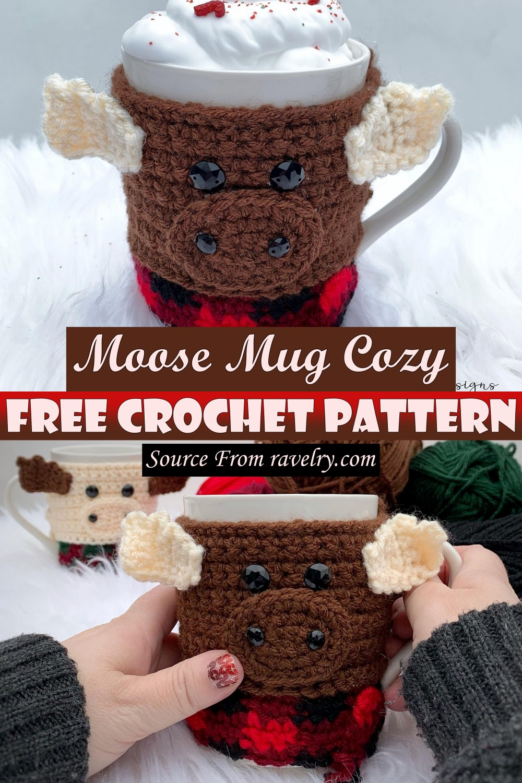 Free Crochet Moose Mug Cozy Pattern