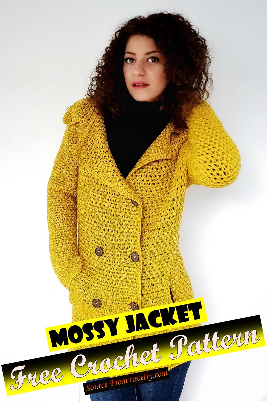 Free Crochet Mossy Jacket Pattern