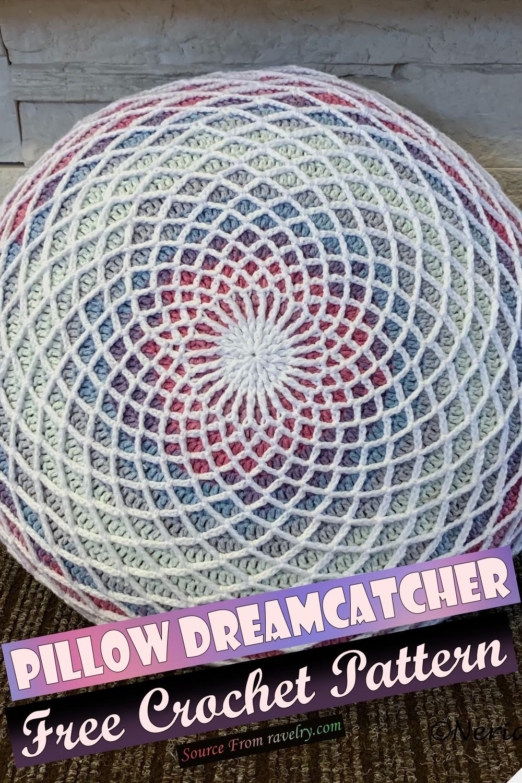 Free Crochet Pillow Dreamcatcher Pattern