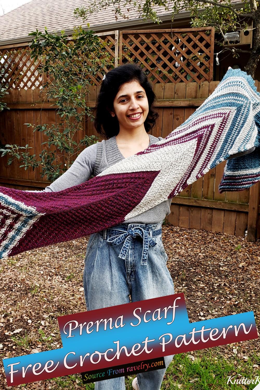 Free Crochet Prerna Scarf Pattern