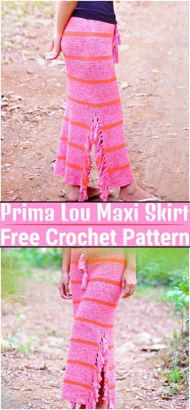 Free Crochet Prima Lou Maxi Skirt Pattern