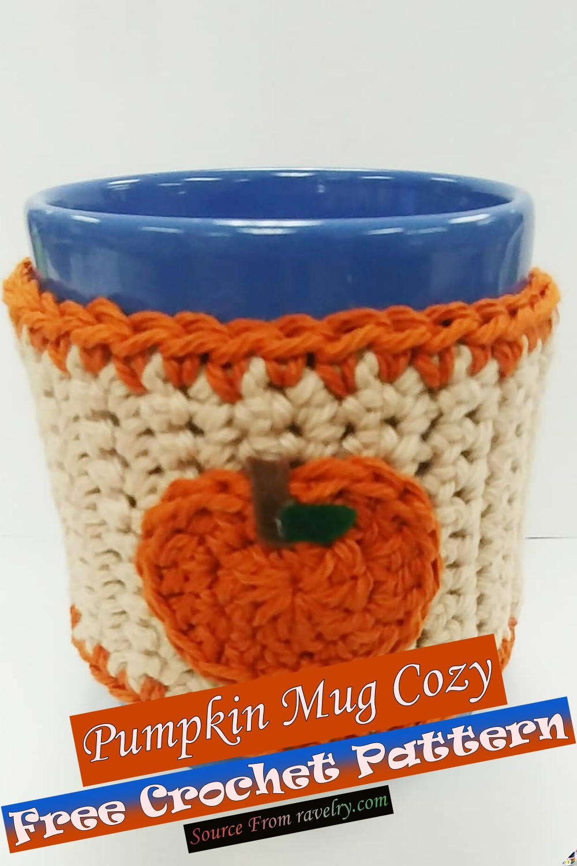 Free Crochet Pumpkin Mug Cozy Pattern