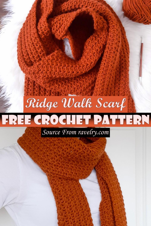 Free Crochet Ridge Walk Scarf Pattern