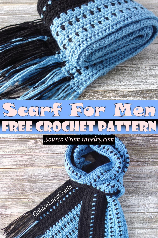 Free Crochet Scarf For Men Pattern
