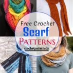 Easily Made Up Free Crochet Scarf Patterns & Images