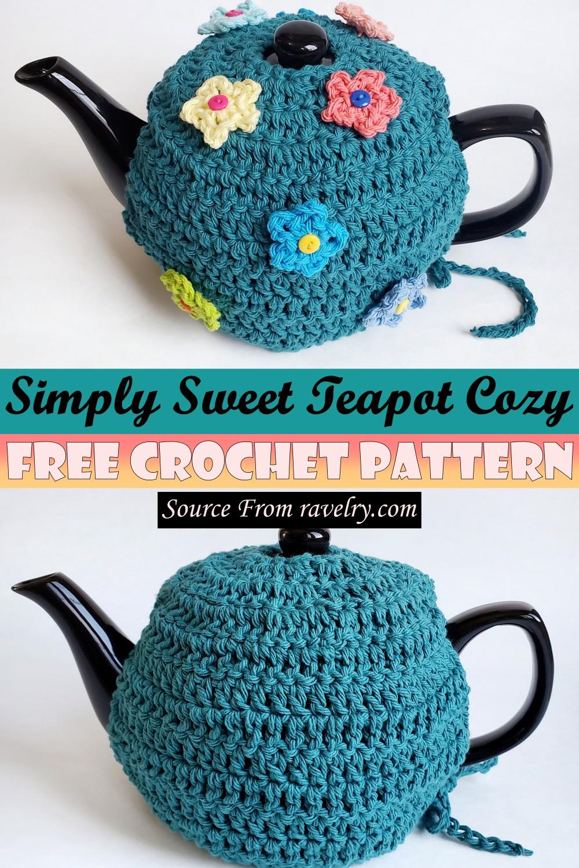 Free Crochet Simply Sweet Teapot Cozy Pattern