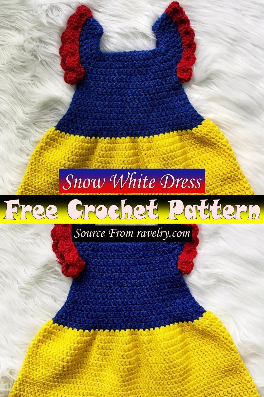 Free Crochet Snow White Dress Pattern