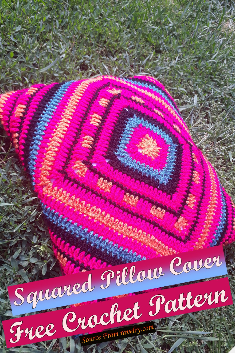 Free Crochet Squared Pillow Cover Pattern