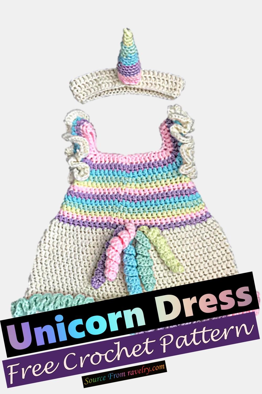 Free Crochet Unicorn Dress Pattern