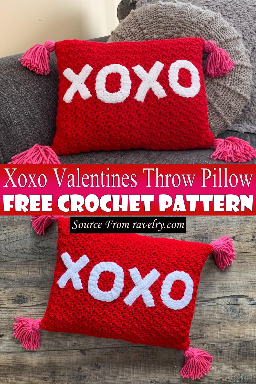 Free Crochet Xoxo Valentines Throw Pillow Pattern