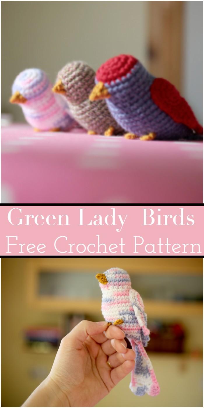Green Lady Crochet Birds Patterns