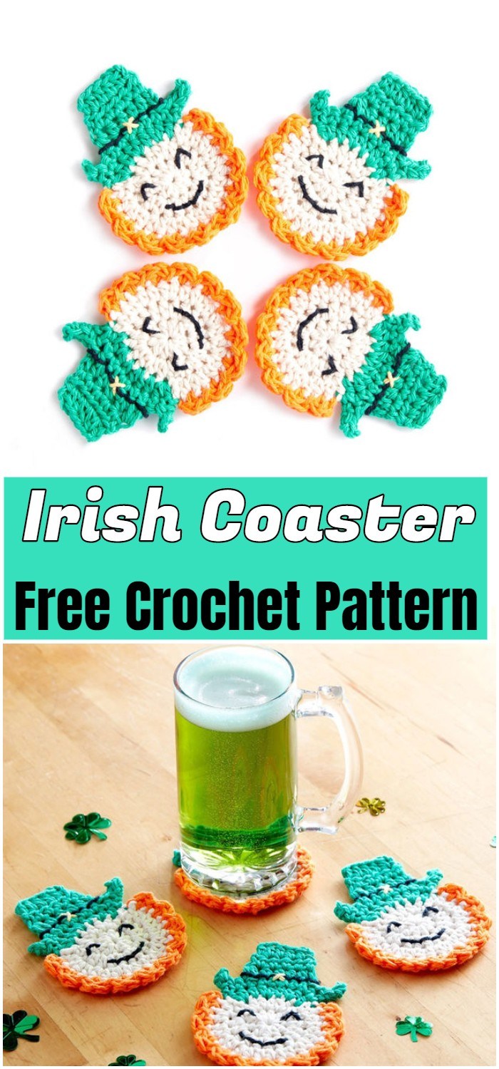 Irish Crochet Coaster