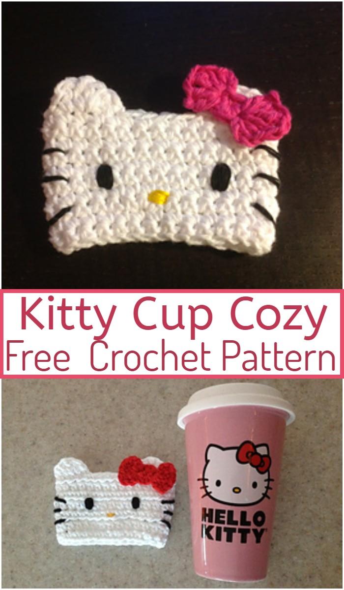Kitty Cup Cozy Crochet Pattern