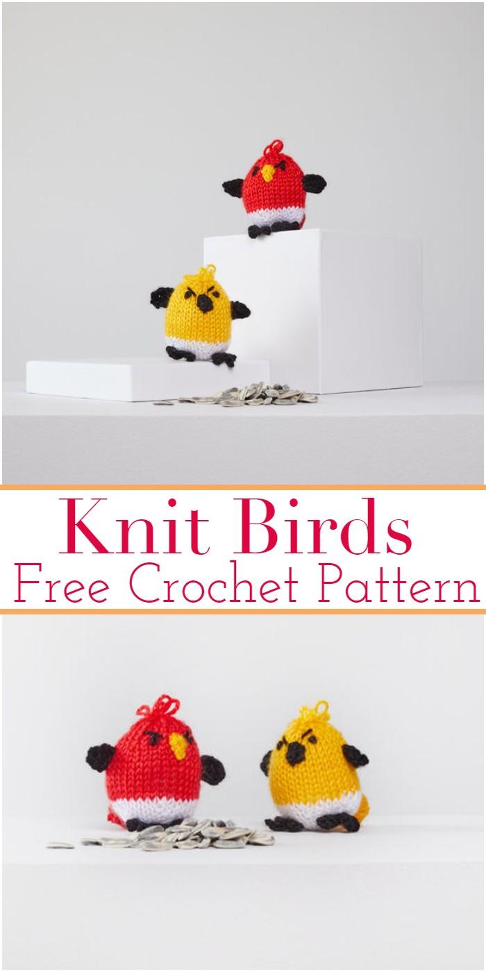 Knit Crochet Birds Patterns