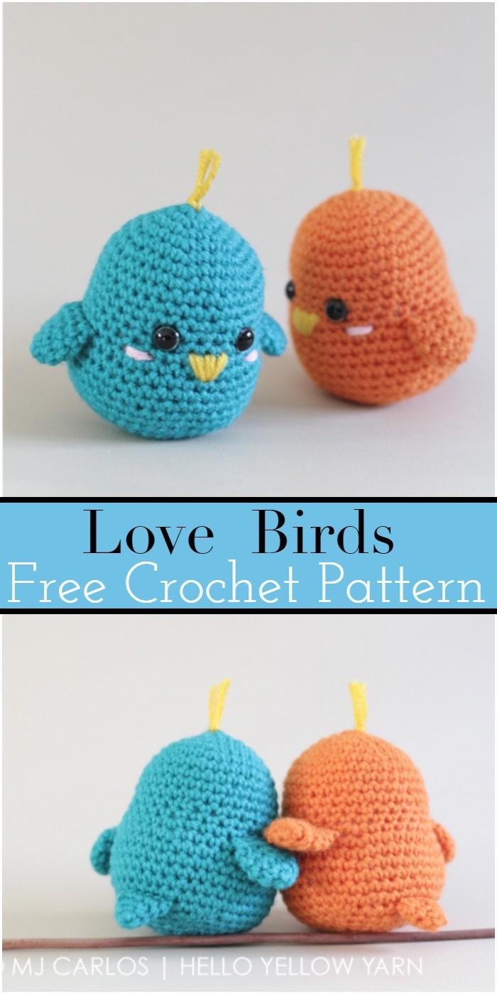Lovebirds Crochet Birds Patterns