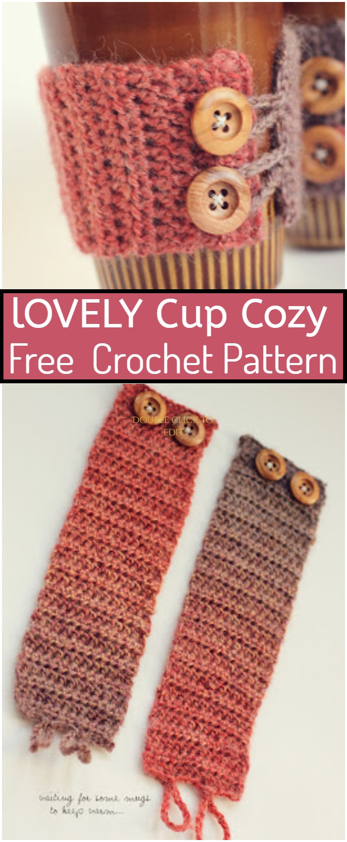 Lovely Cup Cozy Crochet Pattern