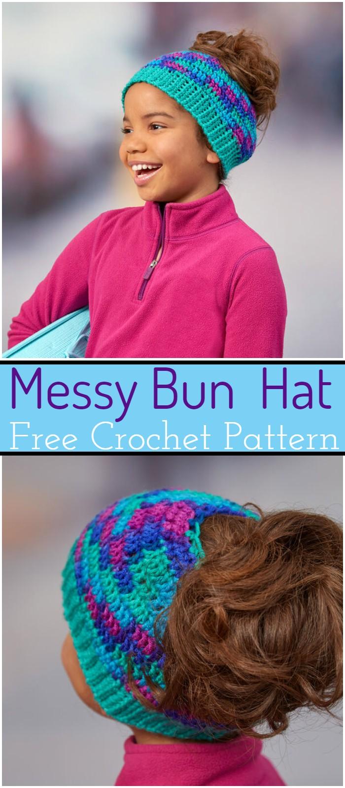 Messy Bun Crochet Hat Patterns