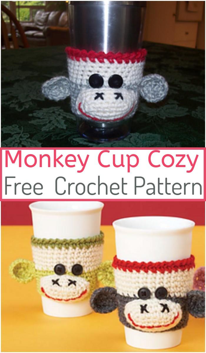 Monkey Cup Cozy Crochet Pattern