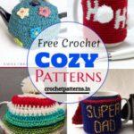 Free Crochet Teapot Cozy Patterns/ Mug Cozy Patterns/ Cozy Patterns/ Kitchen Crochet Patterns