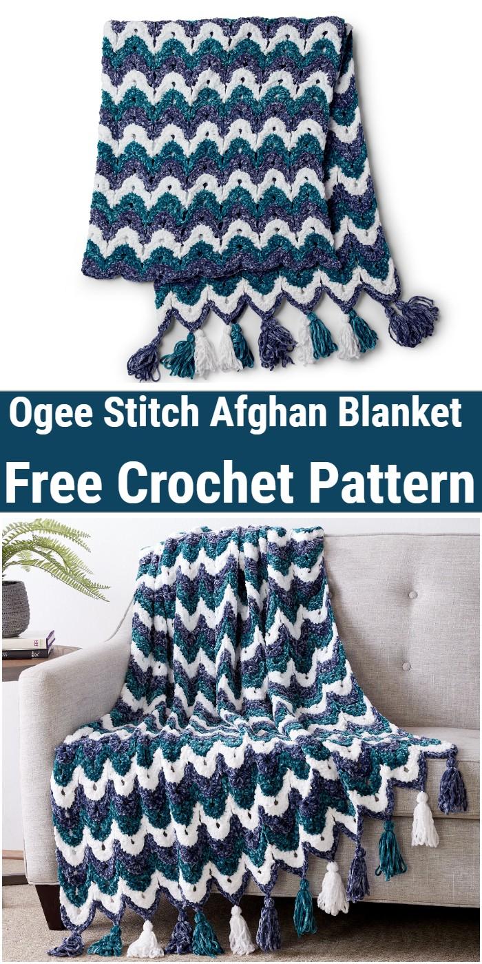 OGEE STITCH AFGHAN Blanket