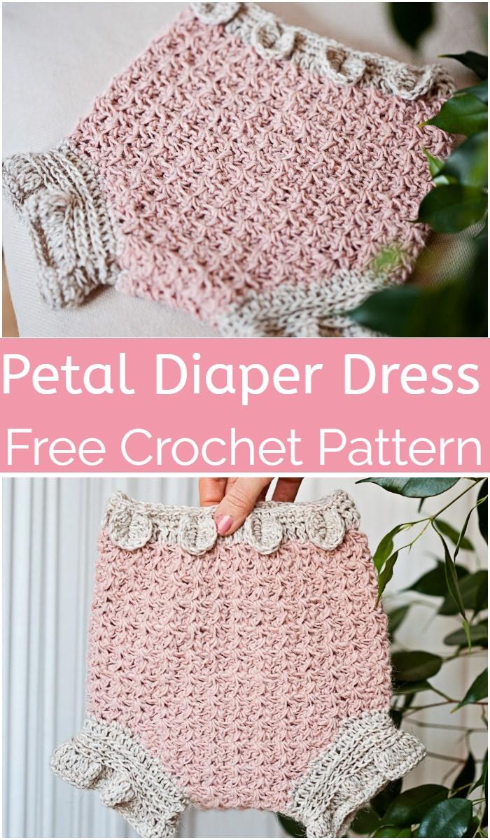 Petal Diaper Crochet Baby Dress Pattern