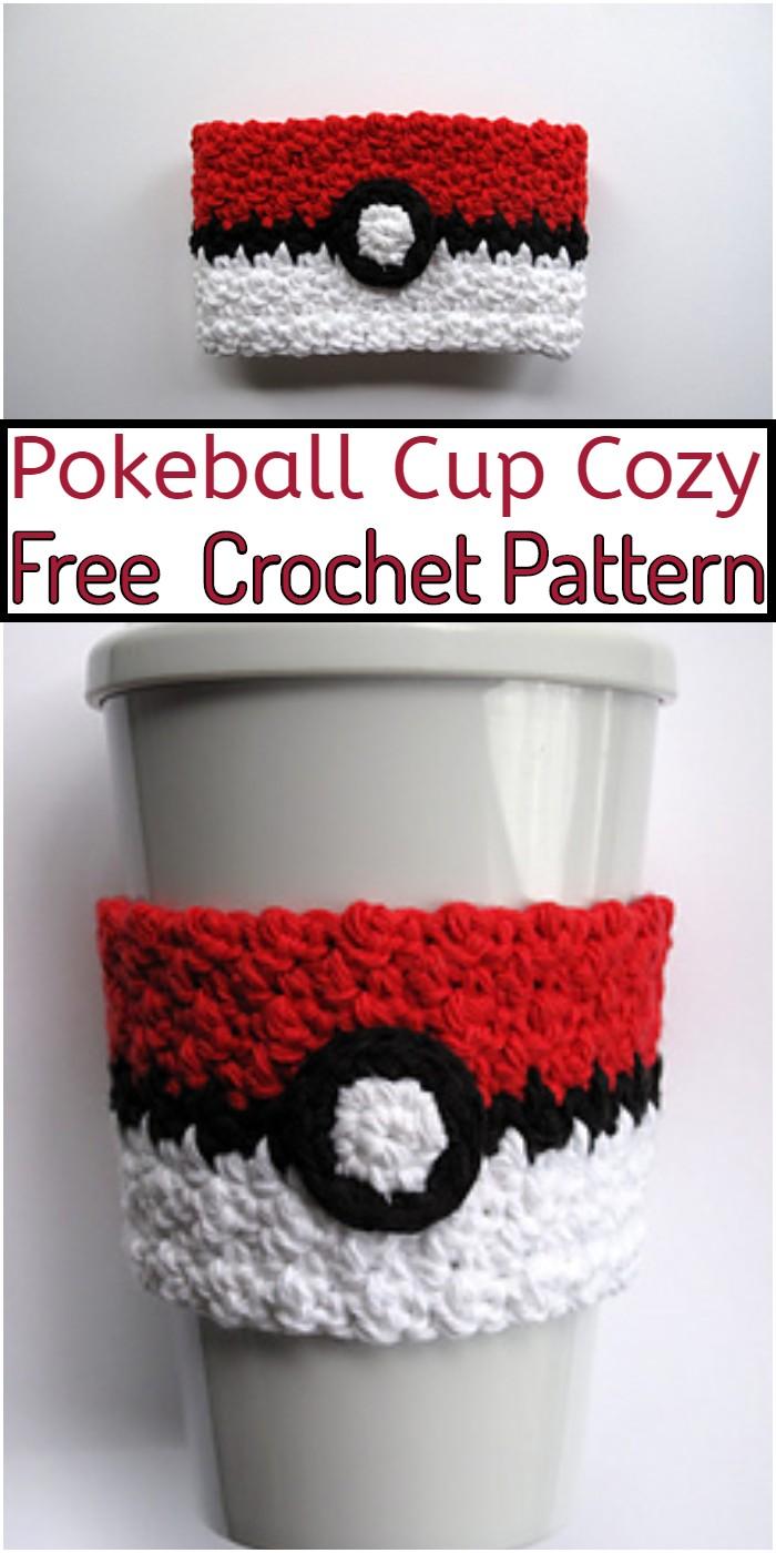 Pokeball Cup Cozy Crochet Pattern