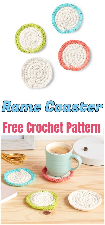 Rame Crochet Coaster