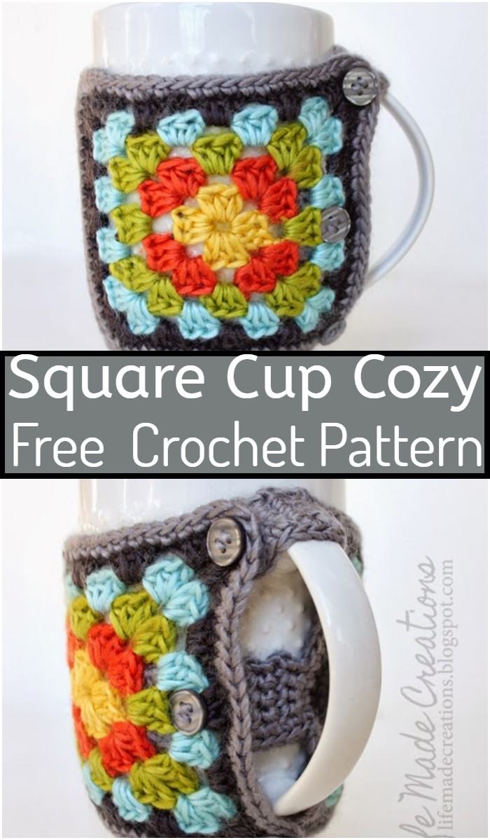 Square Cup Cozy Crochet Pattern