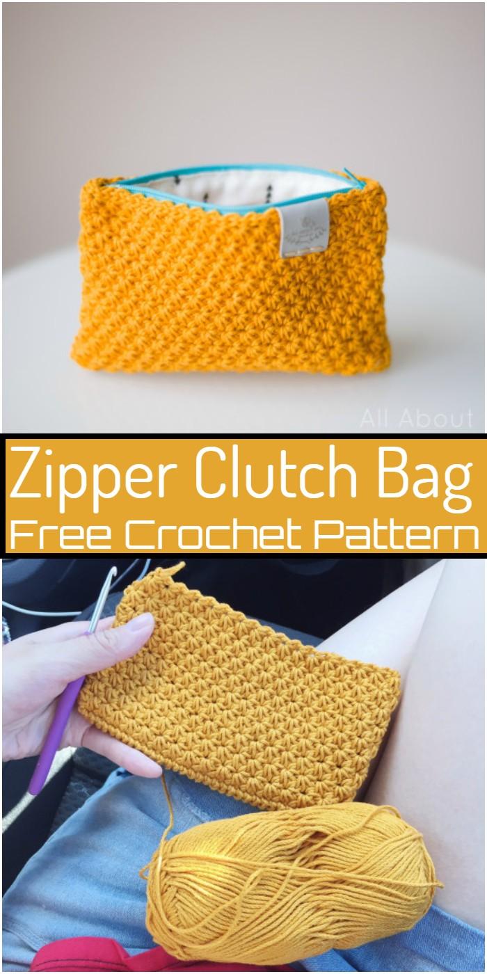 Zipper Crochet Clutch Bag Pattern