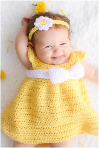 Crochet Newborn Dress Patterns