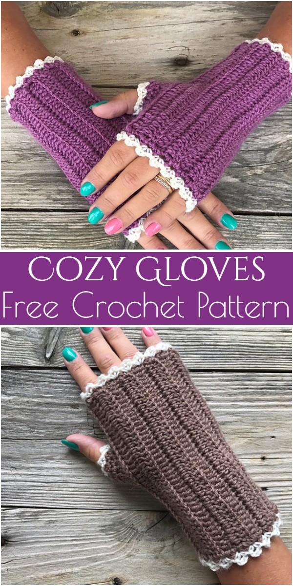 Cozy Gloves Free Crochet Pattern