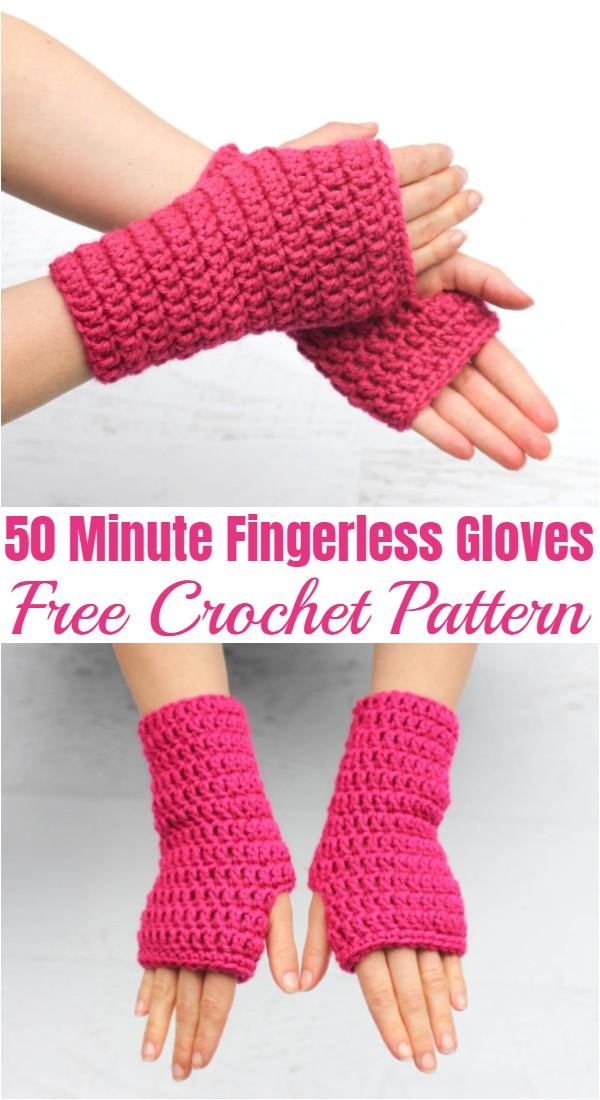 Crochet 50 Minute Fingerless Gloves