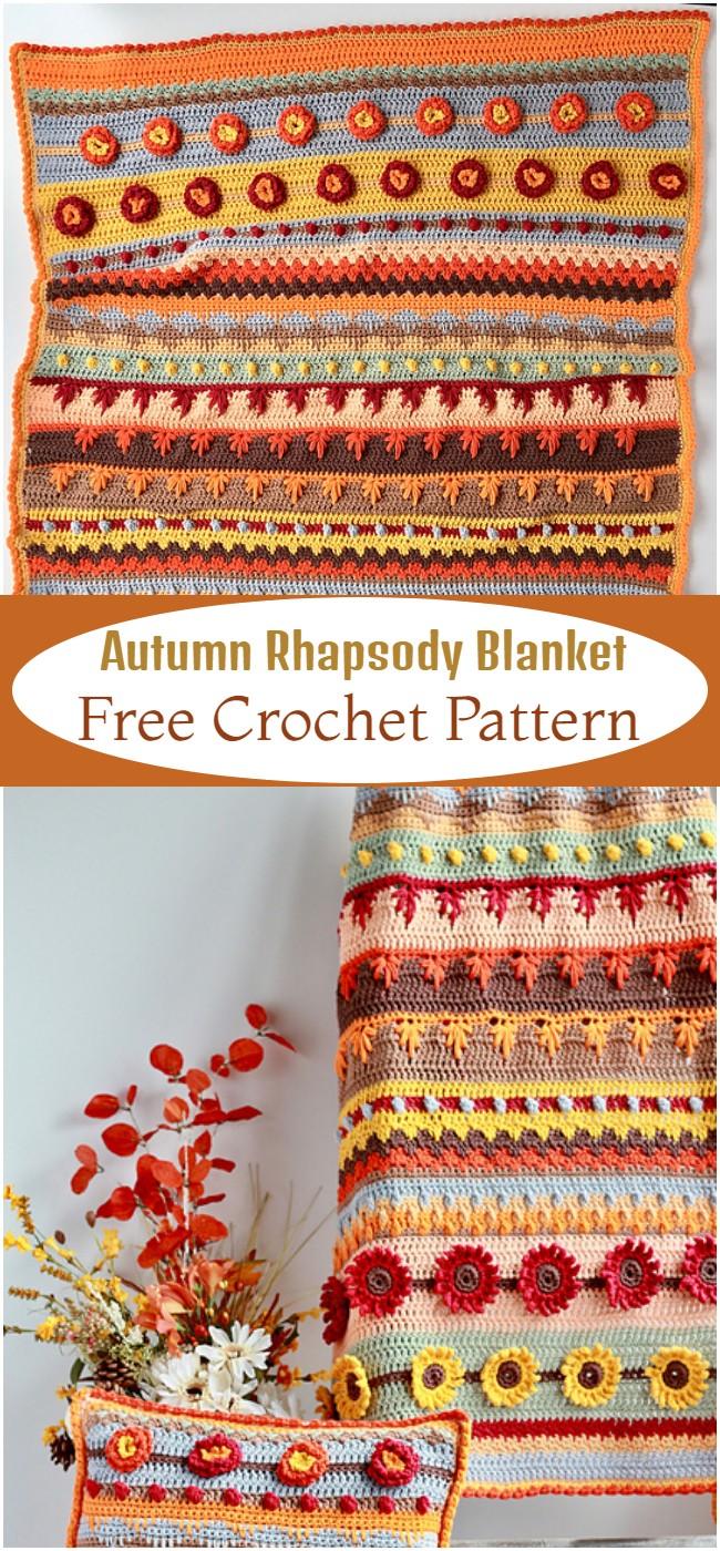Crochet Autumn Rhapsody Blanket Pattern