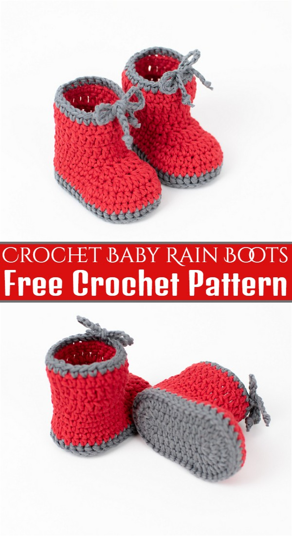 Crochet Baby Rain Boots