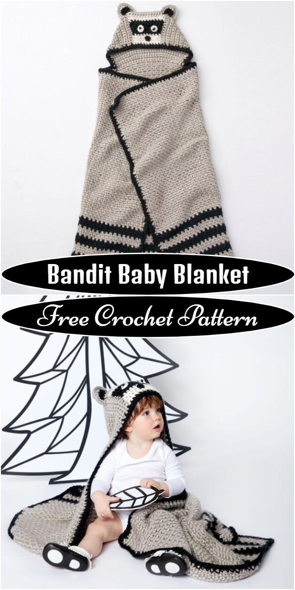 Crochet Bandit Baby Blanket