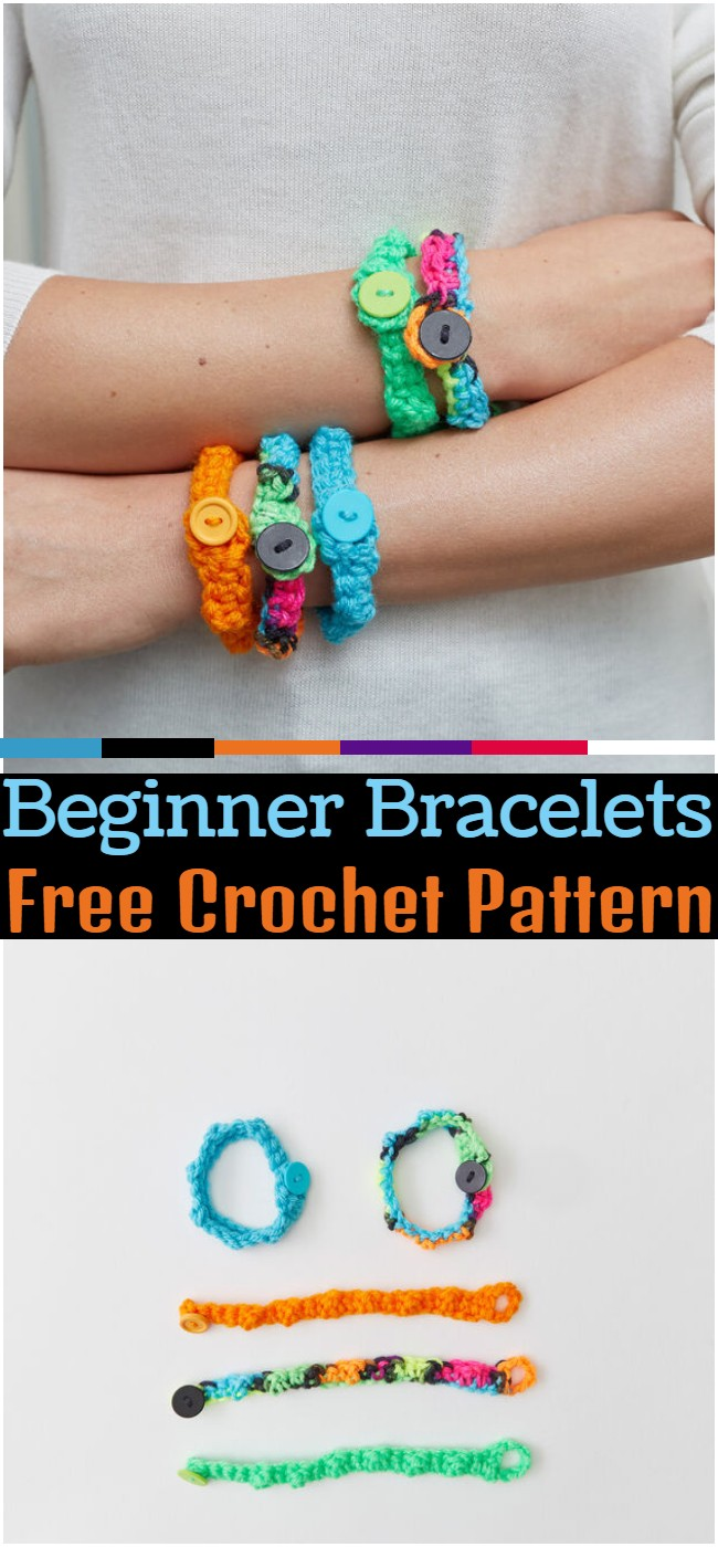 Crochet Beginner Bracelets Pattern