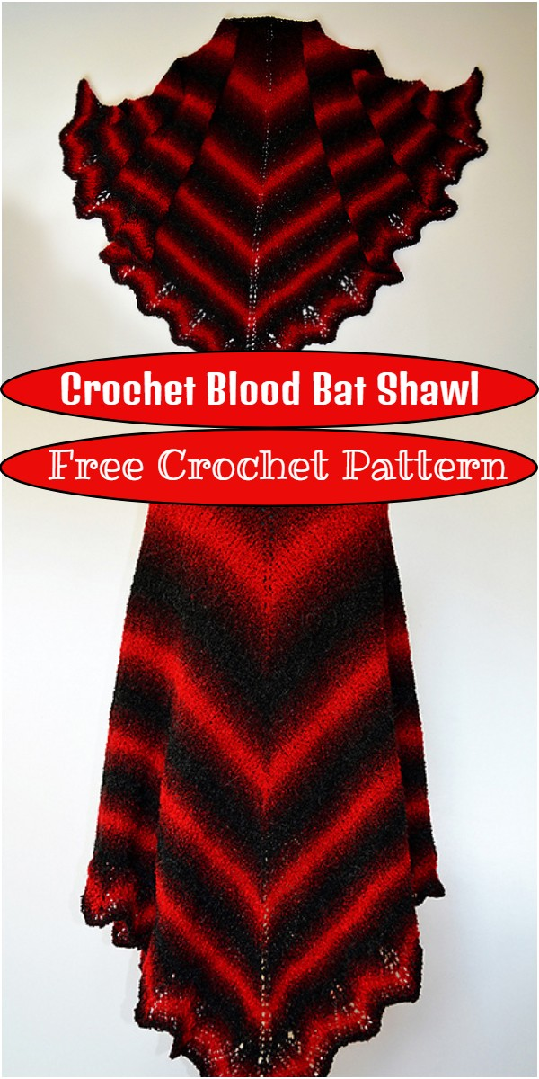 Crochet Blood Bat Shawl