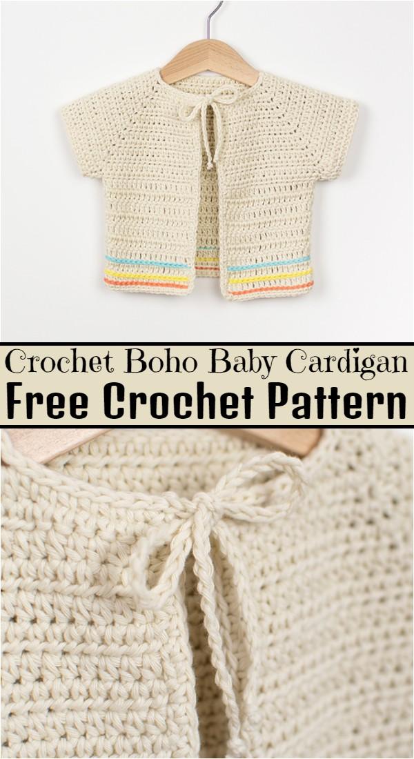Crochet Boho Baby Cardigan