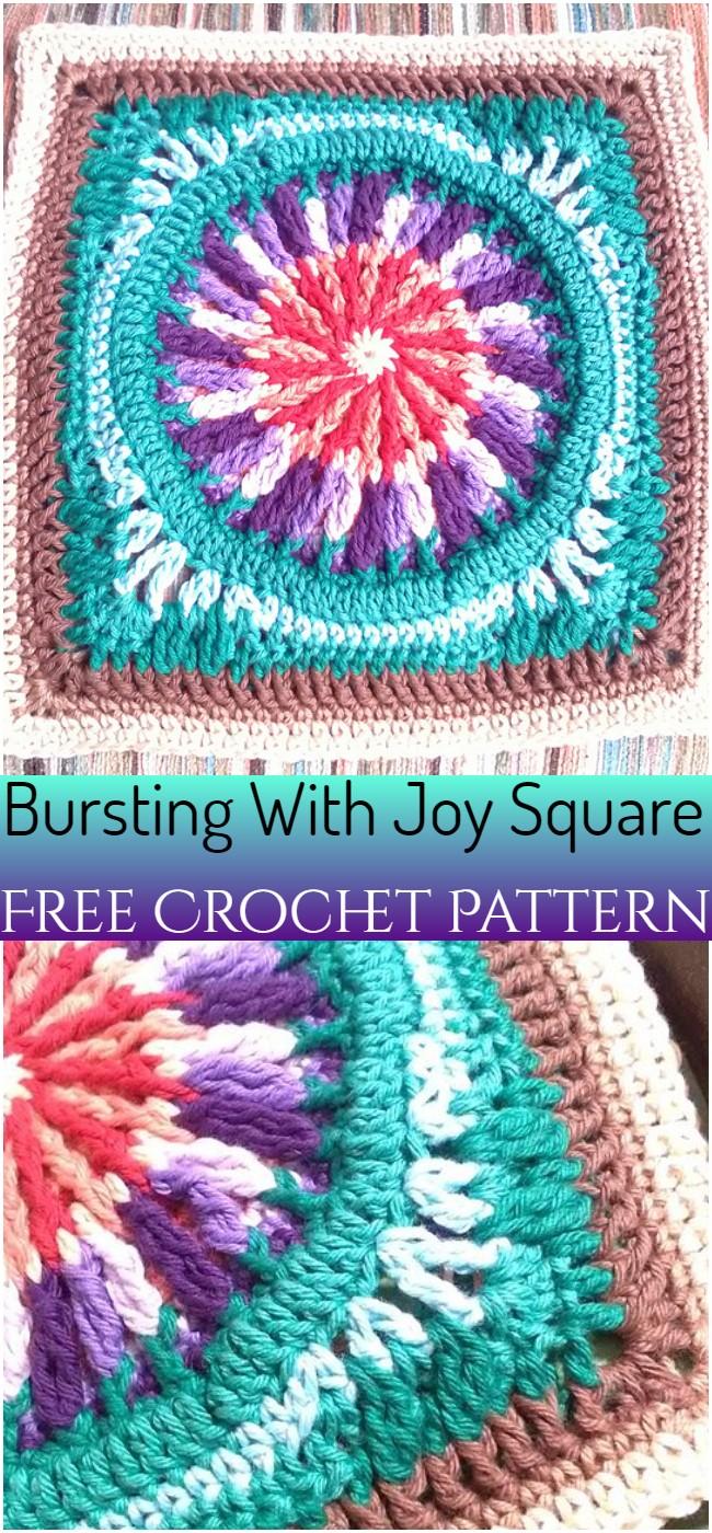 Bursting With Joy Square Pattern