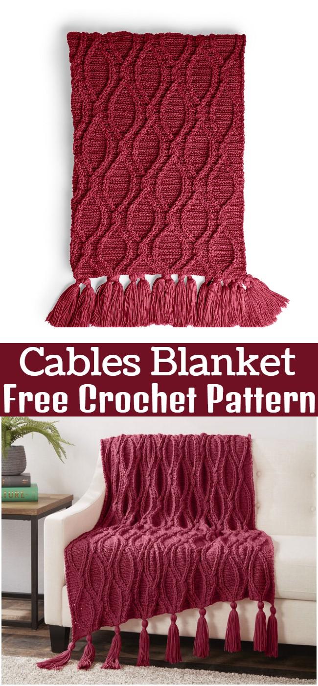 Crochet Cables Blanket Pattern
